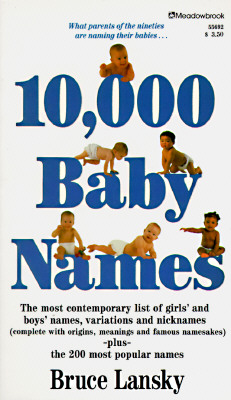 Image for 10,000 Baby Names