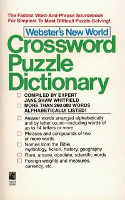 Image for WEBSTERS CROSSWORD PUZZLE DICT