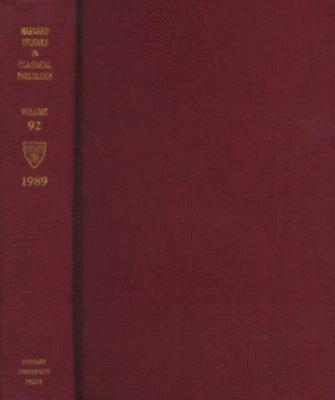 Harvard Studies in Classical Philology, Volume 92