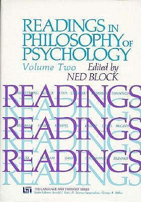 Image for Readings in Philosophy of Psychology, Volume II (Readings in the Philosophy of Psychology)