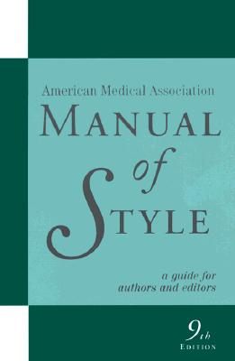 Image for AMERICAN MEDICAL ASSOCIATION MANUAL OF S
