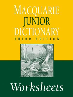 Image for Macquarie Junior Dictionary 3rd Edition Worksheets