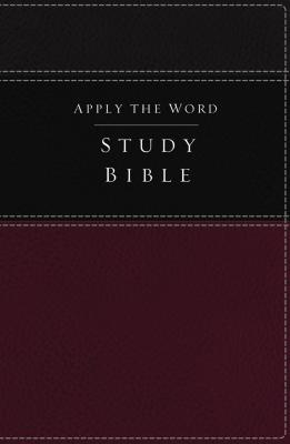"""Image for """"''NKJV, Apply the Word Study Bible (Imitation Leather, BurgundyBlack, Red Letter Edition)''"""""""