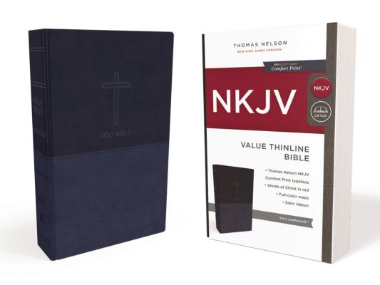 Image for NKJV, VALUE THINLINE BIBLE, LEATHERSOFT, BLUE, RED LETTER EDITION, COMFORT PRINT: HOLY BIBLE, NEW KI
