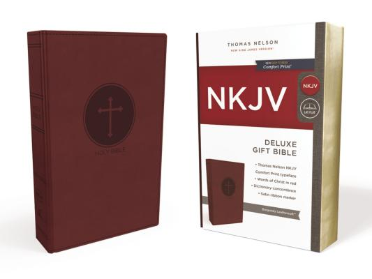 Image for NKJV, Deluxe Gift Bible, Leathersoft, Burgundy, Red Letter Edition, Comfort Print: Holy Bible, New King James Version