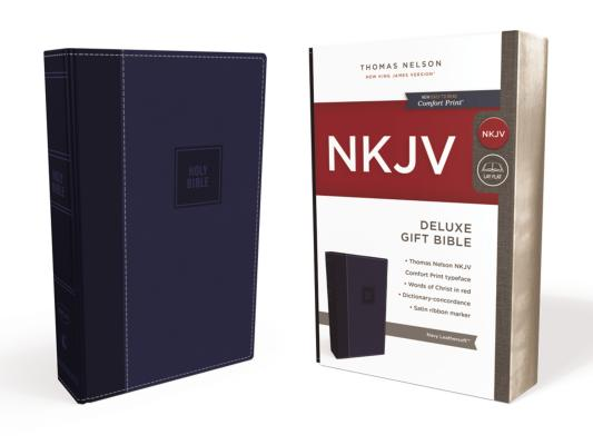 Image for NKJV, Deluxe Gift Bible, Leathersoft, Blue, Red Letter Edition, Comfort Print: Holy Bible, New King James Version