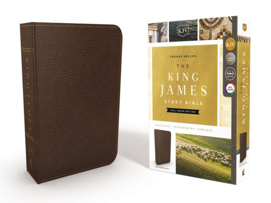 Image for KJV, The King James Study Bible, Bonded Leather, Brown, Red Letter, Full-Color Edition