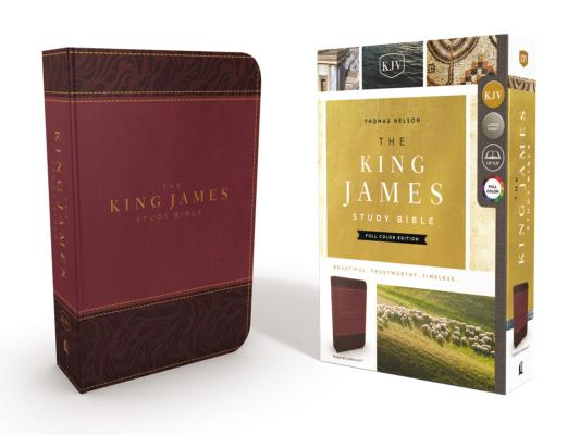 Image for KJV, The King James Study Bible, Leathersoft, Burgundy, Red Letter, Full-Color Edition
