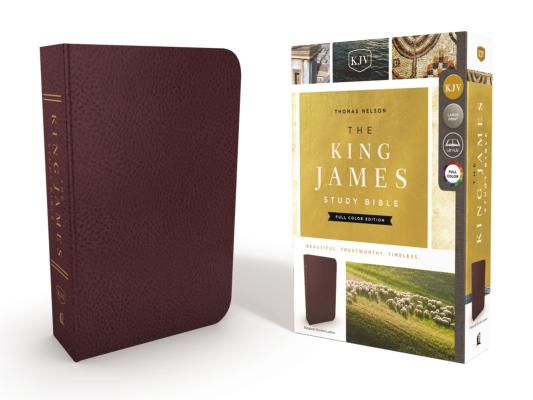 Image for KJV, The King James Study Bible, Bonded Leather, Burgundy, Red Letter, Full-Color Edition