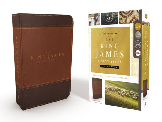 Image for KJV, The King James Study Bible, Leathersoft, Brown, Red Letter, Full-Color Edition
