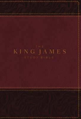 Image for KJV, The King James Study Bible, Leathersoft, Burgundy, Indexed, Red Letter, Full-Color Edition