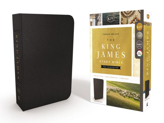 Image for KJV, The King James Study Bible, Genuine Leather, Black, Full-Color Edition