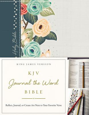 Image for KJV Journal the Word Bible (Green Floral Cloth Over Board)