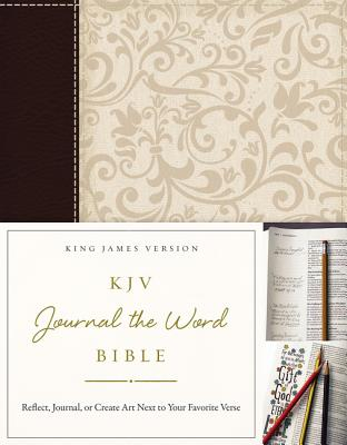 "Image for ""KJV, Journal the Word Bible (BrownCream Imitation Leather)"""