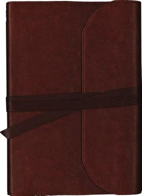 Image for NKJV, Journal the Word Bible, Large Print, Premium Leather, Brown, Red Letter Edition: Reflect, Journal, or Create Art Next to Your Favorite Verses