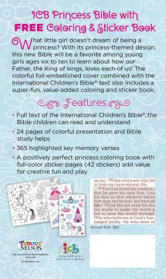 Image for ICB Princess Bible with Coloring Sticker Book
