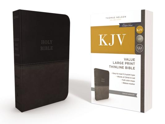 Image for KJV, Thinline Bible, Large Print (Charcoal) Red Letter Edition
