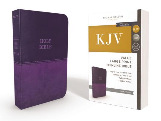 Image for KJV Value Thinline Bible LP LS Purple RL Comfort Print
