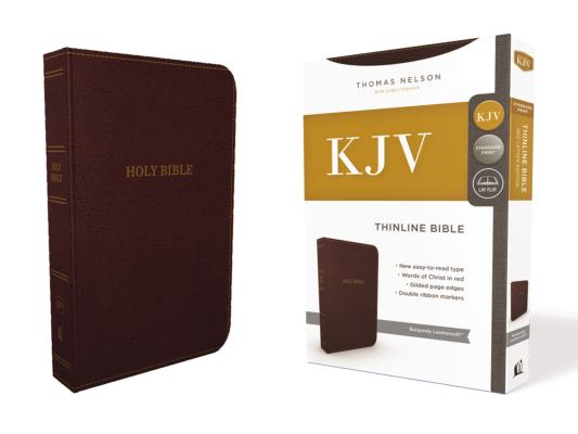 Image for KJV, Thinline Bible, Standard Print, Imitation Leather, Burgundy, Red Letter Edition