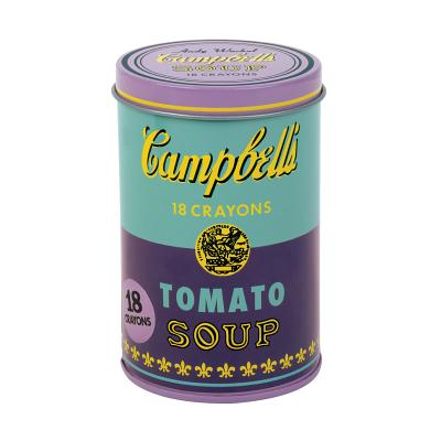 Image for Mudpuppy - Andy Warhol - Set of Crayons - Campbell's Soup Cans (1965) - Violet and Green