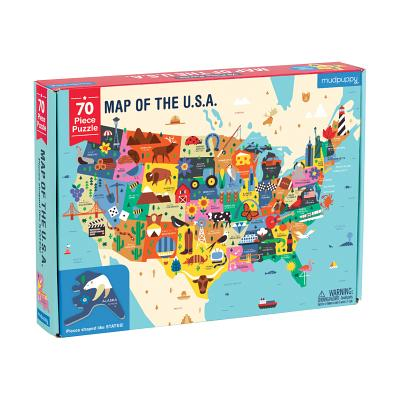 Image for MAP OF THE U. S. A. PUZZLE