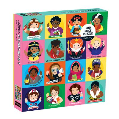 Image for Mudpuppy Little Feminist 500 Piece Jigsaw Puzzle for Kids and Adults, Feminist Puzzle Celebrates Women Who Have Made an Impact with Colorful Illustrated Portraits, Great Gift for Feminists (0735353824)