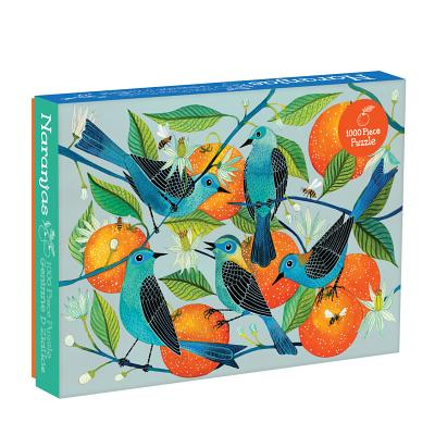 "Image for Galison Naranjas Puzzle, 1,000 Piece Puzzle, 20""x27"", Fun and Challenging, Gorgeous and Colorful Illustration of Birds and Oranges, Art Jigsaw Puzzle with Birds for Families"
