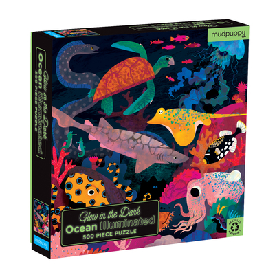 Image for OCEAN ILLUMINATED 500 PIECE GLOW IN THE DARK FAMILY PUZZLE
