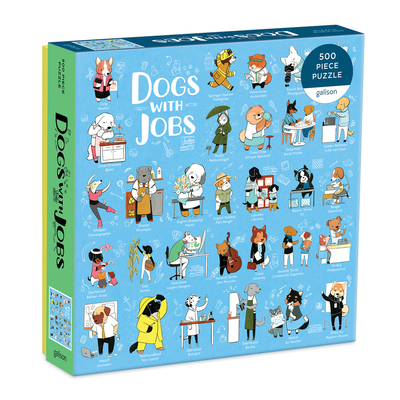 Image for Galison Dogs with Jobs Puzzle, 500 Pieces, 20 x 20  Jigsaw Puzzle Featuring an Amusing Illustration of Dogs  Thick, Sturdy Pieces, Challenging Family Activity, Great Gift Idea, Multicolor