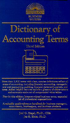 Image for Dictionary of Accounting Terms (Barron's Business Guides)