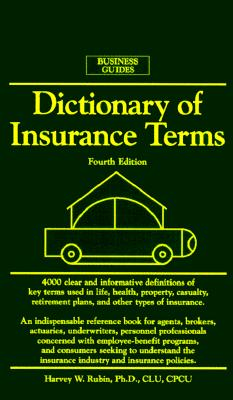Image for Dictionary of Insurance Terms (Barron's Business Guides)