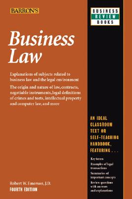 Image for Business Law (Barron's Business Review Series)