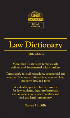 Image for Law Dictionary (Barron's Legal Guides)