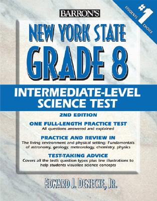 Image for Barron's New York State Grade 8 Intermediate Level Science Test
