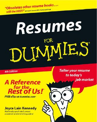 Image for Resumes for Dummies, Fourth Edition