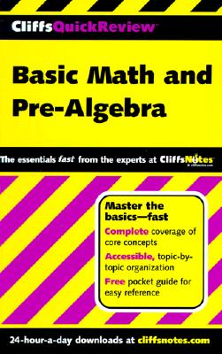 Image for Cliffs: Basic Math and Pre Algebra