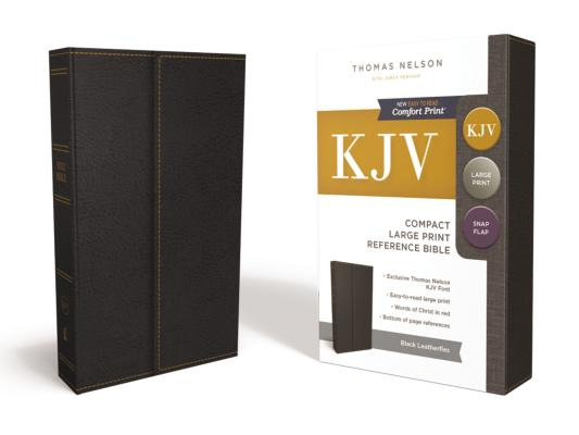 Image for KJV, Reference Bible, Compact, Large Print, Snapflap Leather-Look, Black, Red Letter Edition