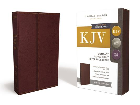 Image for KJV, Reference Bible, Compact, Large Print, Snapflap Leather-Look, Burgundy, Red Letter Edition