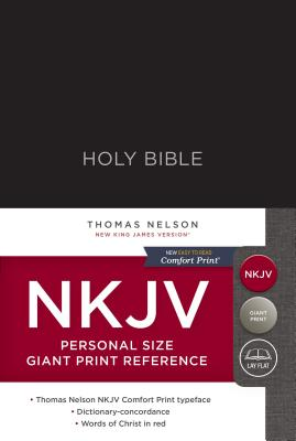 Image for NKJV, Reference Bible, Personal Size Giant Print, Hardcover, Black, Red Letter Edition, Comfort Print