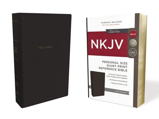 Image for NKJV, Reference Bible, Personal Size Giant Print, Leathersoft, Black, Red Letter Edition, Comfort Print: Holy Bible, New King James Version