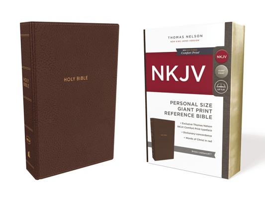NKJV, REFERENCE BIBLE, PERSONAL SIZE GIANT PRINT, LEATHERSOFT, BROWN, RED LETTER EDITION, COMFORT PR, NELSON, THOMAS