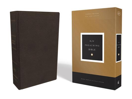 Image for KJV, Preaching Bible, Premium Calfskin Leather, Brown, Comfort Print