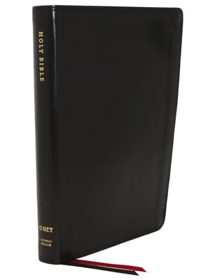 Image for NET Bible, Thinline, Leathersoft, Black, Thumb Indexed, Comfort Print: Holy Bible