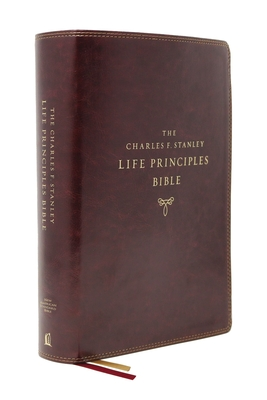 Image for NASB, Charles F. Stanley Life Principles Bible, 2nd Edition, Leathersoft, Burgundy, Comfort Print: Holy Bible, New American Standard Bible