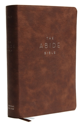 Image for NKJV, Abide Bible, Leathersoft, Brown, Red Letter Edition, Comfort Print: Holy Bible, New King James Version