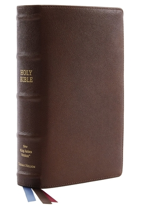 Image for NKJV, Single-Column Reference Bible, Premium Goatskin Leather, Brown, Premier Collection, Comfort Print: Holy Bible, New King James Version