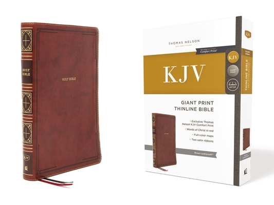 Image for KJV Giant Print Thinline Bible Brown Leathersoft