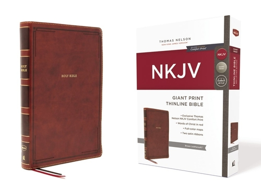 Image for NKJV Giant Print Thinline Bible Brown Leathersoft