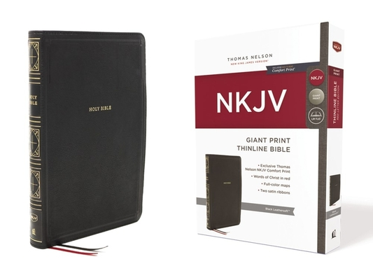 Image for NKJV Giant Print Thinline Bible Black Leathersoft