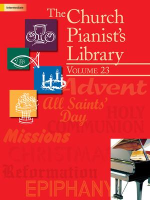 Image for 70/2147L CHURCH PIANIST'S LIBRARY Volume 23 Piano Book Intermediate Level